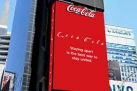 Coco Cola social distancing logo