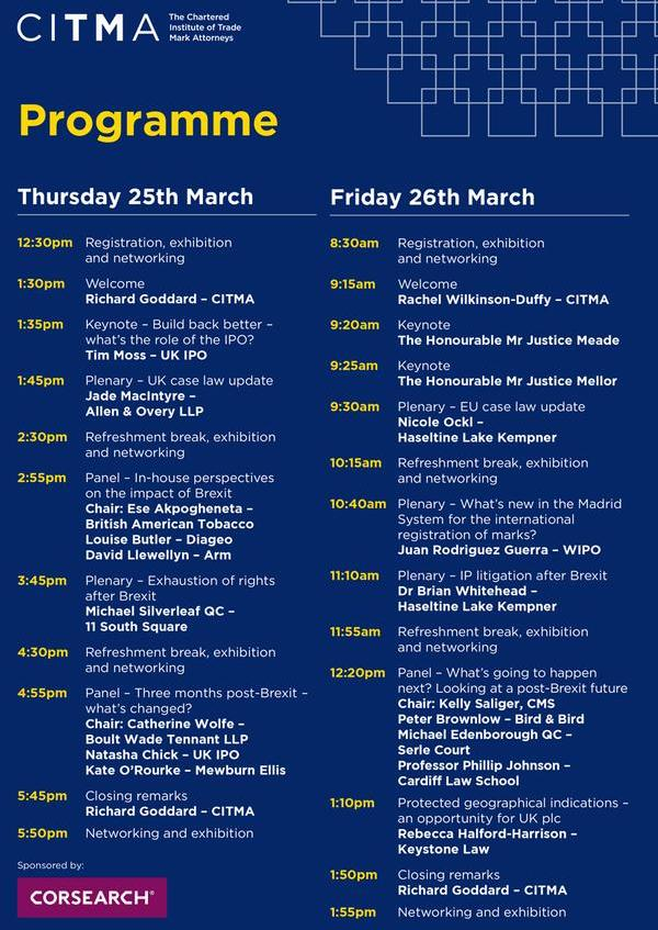 Spring Conference programme