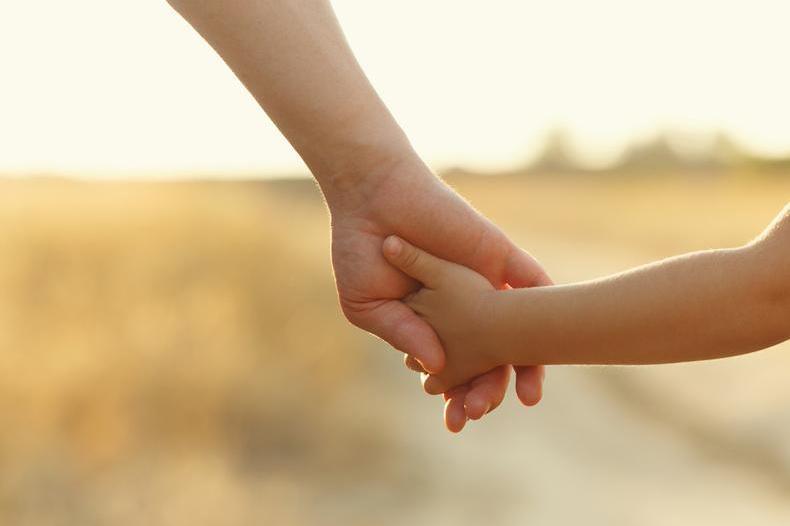 Picture of an adult holding a child's hand