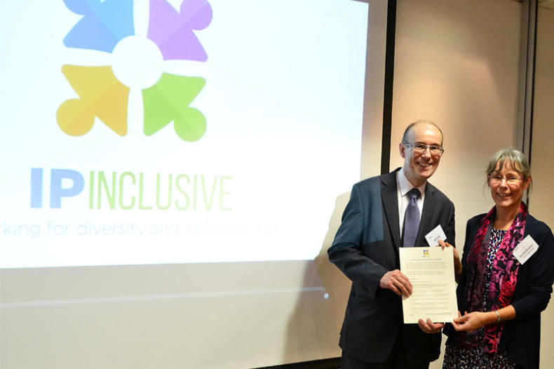 Andrea at the launch of IP Inclusive